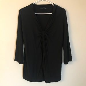BANANA REPUBLIC BLACK TIED BLOUSE